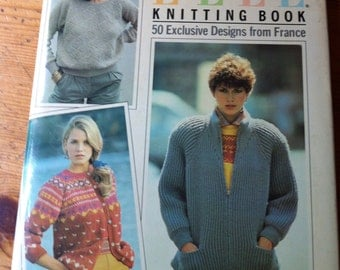 the elle knitting book 50 exclusive designs from france 1984