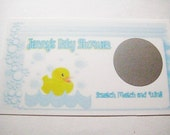 Rubber Duck Personalized Baby Shower Scratch Off Game