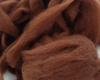 New Hampshire grown Medium Brown Alpaca 4 Oz.