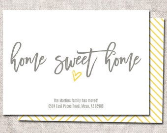 wir sind umgezogen postkarte druckbare home von cardsetcetera. Black Bedroom Furniture Sets. Home Design Ideas