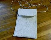 Cream Batik Passport Bag