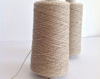 LINEN FLAX warp yarn -natural available in two strengths