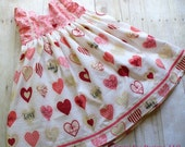 Girls Valentine Dress,Valentine Day Dress,Girls Clothing,Little Girls Dress, Sizes 12MO,18MO,2T,3T,4T,5T,6,7,8