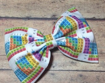 3 DAY SALE Chemistry Periodic Table Fabric Bow 5.5 Inches