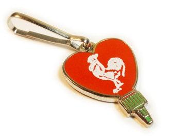 I Heart Sriracha Chili Hot Sauce Bottle Love Pho Jacket Backpack Charm Zipper Pull Clip
