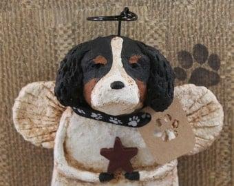 Cavalier King Charles Spaniel,OOAK, handmade from papier mache,Cavalier King