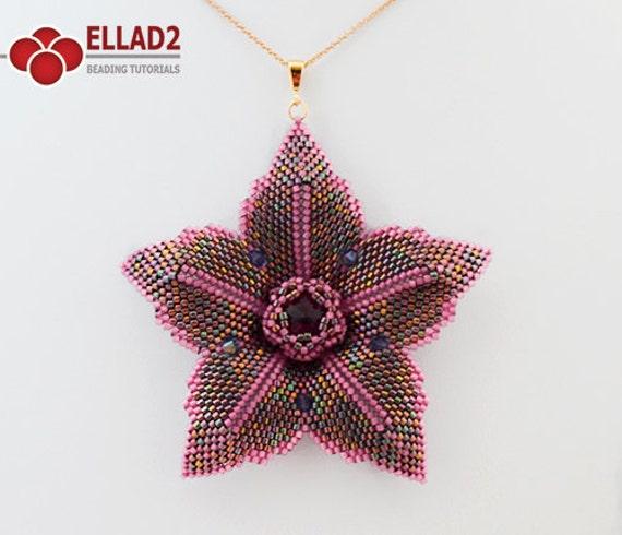 Tutorial Clematis Flower-Beading Tutorial, Instant download, Jewelry Tutorial, Ellad2