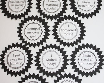 Funny Adulting Reward Stickers - I adulted today - Set of 10