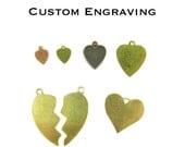 Custom Engraving Heart Charm