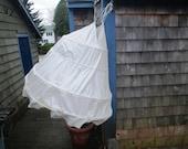 Cotton Hoop Skirt with 4 Metal Bones - Drawstring Waist