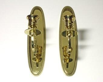 Vintage Brass Sconces in original box - circa 1980's