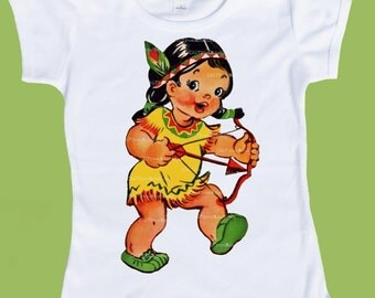 Thanksgiving Shirt,  Native American Indian, Girls Thanksgiving tee,Indian Princess tshirt,Girl with Bow by ChiTownBoutique.etsy