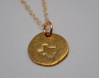 Texas Necklace, Gold Texas Necklace, Don't Mess With Texas
