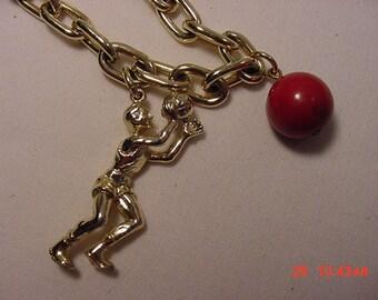 Vintage Basketball Charm Bracelet   16 - 315