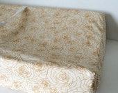 Metallic Gold Bedding - Fitted Crib Sheets / Cot Sheets / Mini Crib Sheet / Changing Pad Covers / Girls Gold Crib Sheet / Gold Baby Bedding