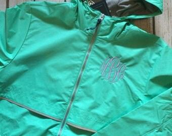 SALE Women's Adult Charles River Rain Jacket, Monogrammed, Rain Coat