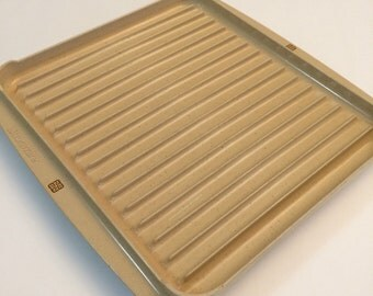 Vintage Littonware Microwave Cookware Bacon Tray Rack Or Roasting Pan Reversible