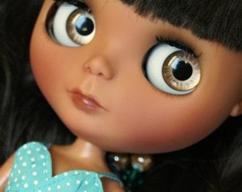 Seaside Serenity Fake Blythe OOAK Doll by Kaleidoscope Kustoms