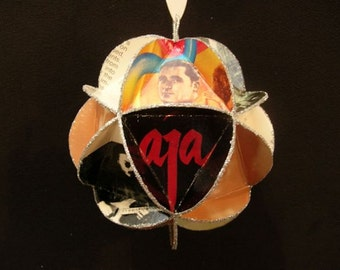 Steely Dan Album Cover Ornament Made From Repurposed Record Jackets