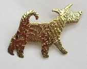Walking dog brooch