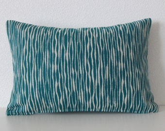 Akana Weave Turquoise teal geometric decorative pillow cover