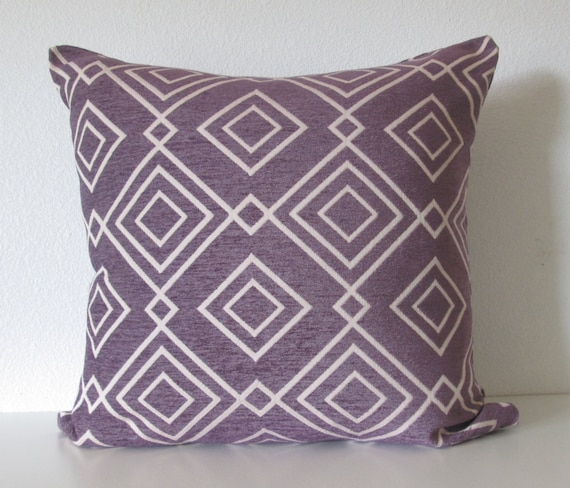 Gatsby Amethyst diamond lattice decorative pillow cover