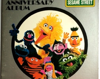 SESAME STREET - The Anniversary Record a Double lp 1978 Original Record Vinyl Album