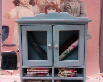 Dollhouse Sewing Fabric Cabinet