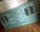 Vintage Buffet / Media Cabinet ~ Aqua ~LOCAL pick up only San Diego~