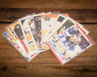 Mario Lemieux Lot of 10 Hockey Cards, Pittsburgh Penguins, Vintage 90s
