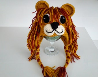 Lion Hat -Knitting Baby  Hat  - for Baby or Toddler-boy halloween costume
