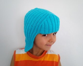 Turkuoise Knit Wig Hat Hair For Halloween Accessory-Halloween Costume Ideas-night costumes