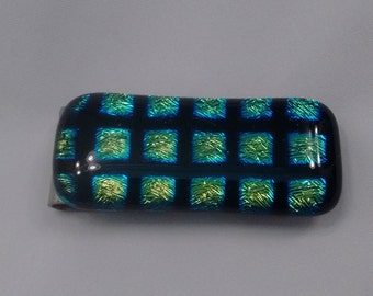 Money clip-Dichroic fused glass
