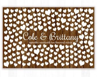 Rustic Wedding Guest Book Wedding Guest Book Ideas Wedding Guestbook Alternative Wedding Guest Book Sign In Unique Bridal Shower Gift W200G