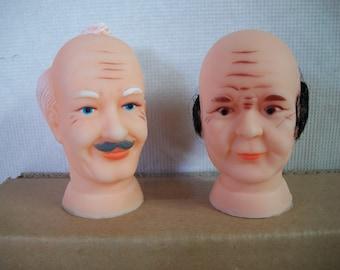 Unusual Old Man or Grandpa Doll Head