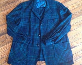 Vintage Men's Pendelton Blazer Shirt 100% Virgin Wool Sz Large