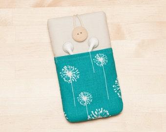 Galaxy S7  sleeve / Iphone 7 cover / nexus 5x sleeve / iphone SE sleeve / ipod cover  / iphone 4s case -  blue dandelion -