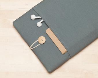 "Macbook 15 case,  Macbook 15 inch sleeve, 15"" macbook pro retina cover, macbook 15 sleeve - Plain grey"