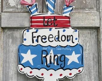 Patriotic, Summer, America's  birthday door hangers