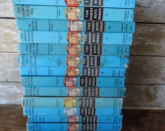 Vintage Hardy Boys Book Set of 14 Various Years