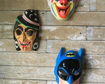 Vintage Halloween Mask Rare Find Clown Left