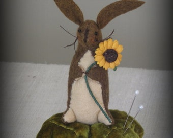 FINISHED PIECE Little Bunny Pinkeep by cheswickcompany