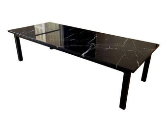 Nero Marquina Marble Coffee Table