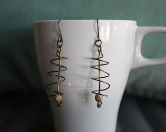 Angelina - Copper and Glass Bead Earrings