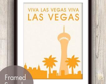 Viva Las Vegas Viva LAS VEGAS - Unframed Art Print (featured in Clementine) Las Vegas Skyline / Stratosphere Print