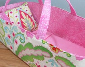 Doll Carrier, Bitty Baby Size,  Pink Modern Print