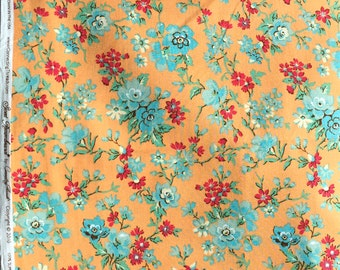 Sweet Remembrance floral orange Connecting Threads FQ or more