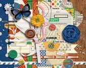 A Wonderful Day (Kit)  - Digital Scrapbooking Elements for Nature, Kids INSTANT DOWNLOAD