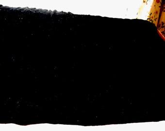 Vintage Fabric Remnant Black Soft Velvet Craft Supply