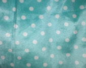 Weighted blanket minkey dots on teal